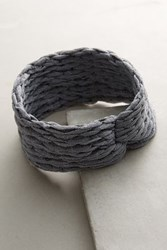 Anthropologie Finnie Turban Headband Light Grey