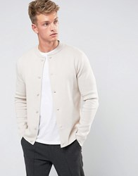 Jack And Jones Premium Knitted Bomber Moonbeam Cream