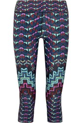 Mara Hoffman Printed Stretch Jersey Leggings Navy