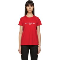 Givenchy Red Blurred Logo Baby T Shirt