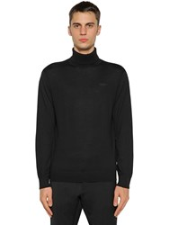 Dsquared Wool Knit Turtleneck Sweater Black
