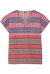 M Missoni Embroidered Cotton Blend Top