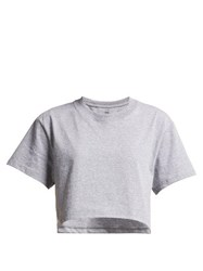 Hanes X Karla The Crop Cotton Jersey T Shirt Grey