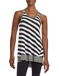 Calvin Klein Striped Tank Top Black