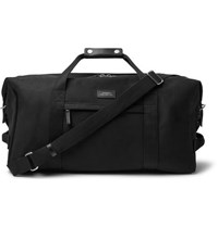 Saturdays Surf Nyc Norfolk Leather Trimmed Cotton Canvas Holdall Black