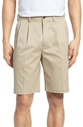 Nordstrom Men's Big And Tall Men's Shop Smartcare Tm Pleated Shorts Navy