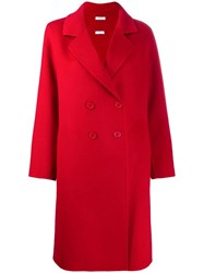 P.A.R.O.S.H. Classic Double Breasted Coat Red