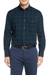 Nordstrom Men's Big And Tall Men's Shop Tartan Plaid Flannel Shirt