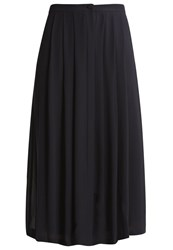 Reiss Muir Pleated Skirt Black