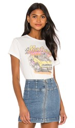 Junk Food Mustang Sally Tee In White. Vintage White