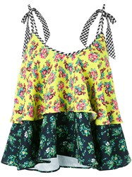 House Of Holland Layered Floral Vest Women Cotton Polyester 8