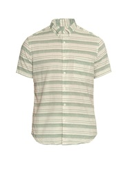Steven Alan Striped Diamond Jacquard Shirt