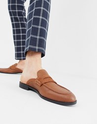 House Of Hounds Bastian Woven Slip On Loafers In Tan Leather