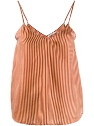 Mes Demoiselles Striped Tank Top Red