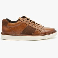 John Lewis Stamford Cupsole Leather Trainers Tan