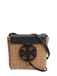 Tory Burch Straw And Leather Shoulder Bag Array 0X5895fe8