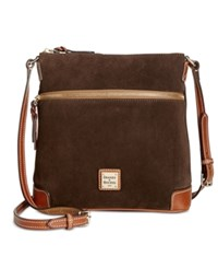 Dooney And Bourke Suede Crossbody Brown Tmoro