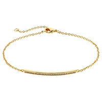 Melissa Odabash Gold Plated Crystal Bar Bracelet Gold