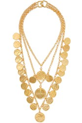 Kenneth Jay Lane Gold Tone Necklace One Size Gbp