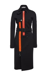 Givenchy Heavy Wool Jersey Trench Black