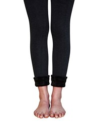 Lemon Solid Bodycon Leggings Heather Grey