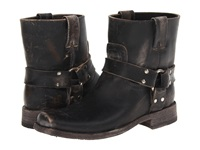 Frye Smith Harness Short Black Stone Wash Women's Pull On Boots