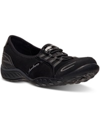 Skechers Women's Relaxed Fit Breathe Easy Good Life Memory Foam Casual Sneakers From Finish Line Black
