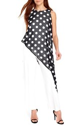 Wallis Women's Polka Dot Overlay Jumpsuit