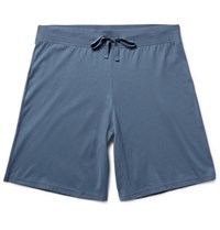 Handvaerk Pia Cotton Jersey Pyjaa Shorts Blue