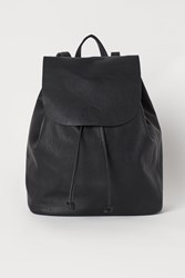 Handm H M Backpack With Flap Black