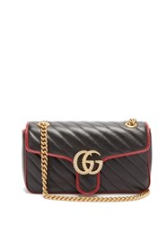 Gucci Gg Marmont Quilted Leather Bag Black Multi