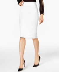 Eci Compression Pencil Skirt Winter White