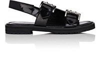 Opening Ceremony Women's Spazzolato Leather Monk Strap Sandals Black