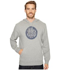 Life Is Good Go To Hoodie Heather Gray Men's Sweatshirt