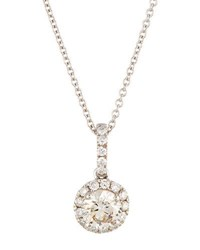 Diana M. Jewels 14K Round White Diamond Pendant Necklace 0.87Tcw