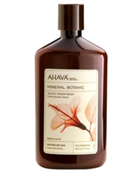 Ahava Mineral Botanic Hibiscus And Fig Velvet Cream Wash 17 Oz