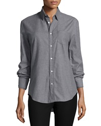 Joseph Flannel Button Down Shirt Gray