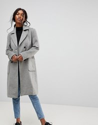 B.Young Classic Belted Coat Gray