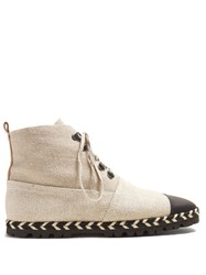 J.W.Anderson Espadrille Canvas Ankle Boots Beige