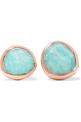 Monica Vinader Siren Rose Gold Vermeil Amazonite Earrings Turquoise
