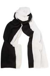 Magaschoni Two Tone Cashmere Scarf Black