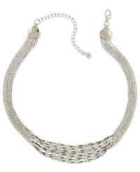 2028 Necklace Silver Tone Twisted Multi Chain Strand Necklace