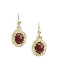 Karen Kane Pave Teardrop Earrings Red