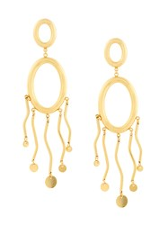 Paula Mendoza Agon Ii Earrings Gold Plated Brass Metallic