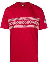 Z Zegna Cable Print T Shirt Red