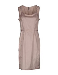Liviana Conti Knee Length Dresses Beige