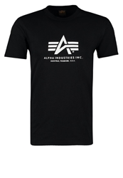 Alpha Industries Basic Print Tshirt Schwarz Black