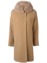 Herno Trim Mid Coat Nude Neutrals