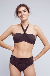 Anthropologie Seafolly Wrap Front Bandeau Bikini Top Steel