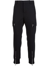 Neil Barrett Zipped Ankle Trousers Black